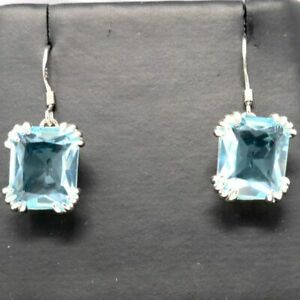 Large-2Ct-Cushion-Blue-Aquamarine-Earrings-Women-Wedding-Jewelry-14K-Gold-Plated