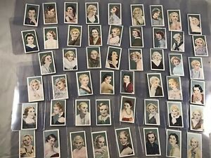 COMPLETE-SET-of-50-1934-GODFREY-PHILLIPS-FILM-FAVOURITES-TOBACCO-CARDS