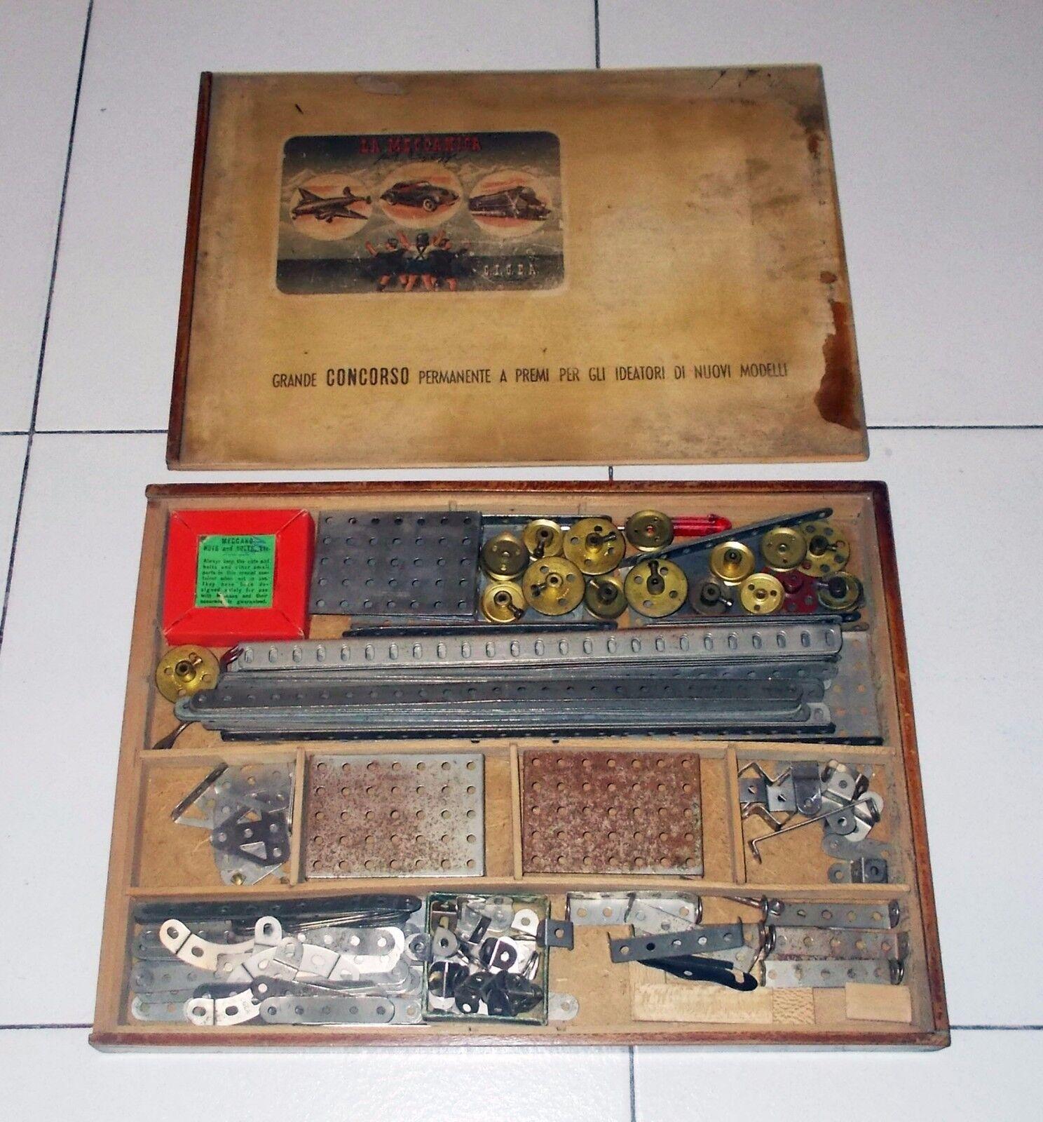 Scatola LA MECCANICA PER I RAGAZZI C.I.G.E.A. Anni 20 30 Cigea MECCANO BOX