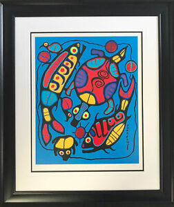 """""""Harmony in Nature"""" Print by Norval Morrisseau, Ltd Ed /950 - Framed Canvas"""