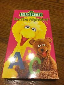 Sesame Street Do The Alphabet Vhs Used Ebay
