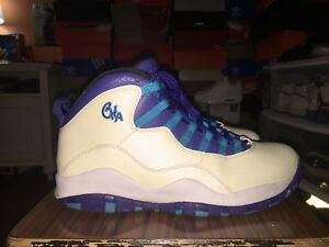 buy popular 7089b 5093a Image is loading Air-Jordan-10-Charlotte-Size-10-5