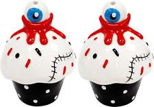 67103 Bloody Cupcakes Salt & Pepper Shakers Sourpuss Kitchen Halloween Gore Eyes