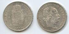 G5658 - Österreich Ungarn 1 Forint 1879 KB Kremnitz KM#453.1 Silber Franz Joseph