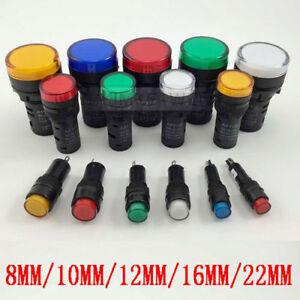 LED-Pilot-Panel-Indicator-Signal-Warning-Light-Lamp-AC-DC-6-3V-12V-24V-36V-110V
