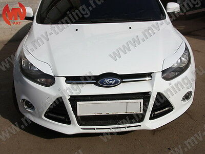 Front Eyelids Eyebrows Headlights Covers var №2 for Honda Civic 4D 8th gen