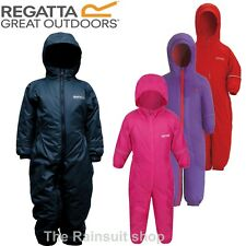 REGATTA SPLOSH WATERPROOF PADDED FLEECE LINED ALL IN ONE SNOW SUIT RAINSUIT SUIT