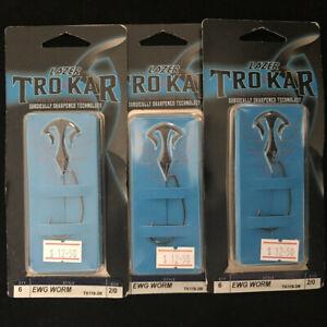 1 Lazer TroKar TK120 MAG Worm Hook Extra Wide Gap Bass Fishing Soft Plastic Hook