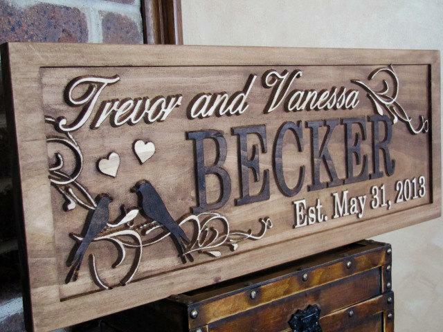 Rustic Wood Engraving Heart
