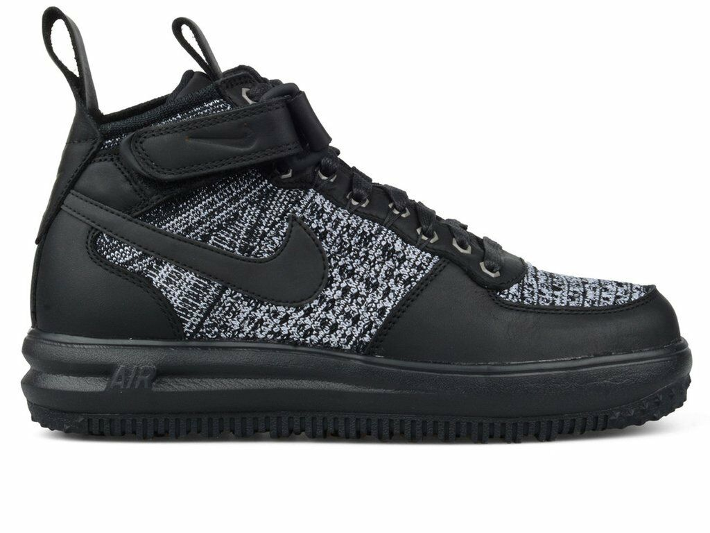 Women's Nike Lunar Force 1 Flyknit Workboot Shoes Black Size 7.5 (860558 001)New
