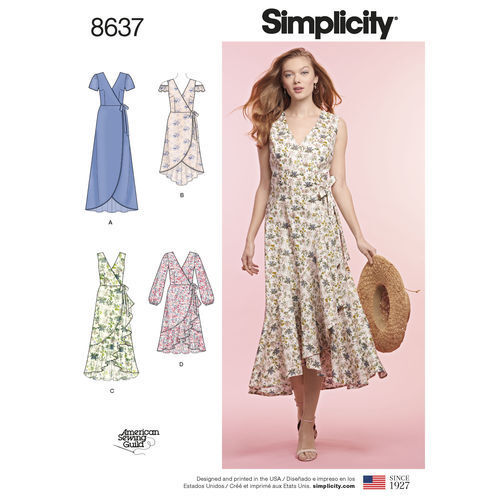 Simplicity Pattern 40 Wrap Dress Misses Sizes 40 40 40 40 40 Uncut Extraordinary Simplicity Pattern