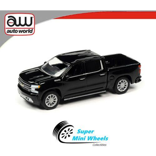 Auto World 2020 Premium 2019 Chevy Silverado Black In-Stock 1:64 New Model