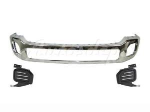 FRONT BUMPER CHROME FACE BAR FOG LIGHT BEZEL TRIM FOR FORD F450 F550 2011-2016 643307368994