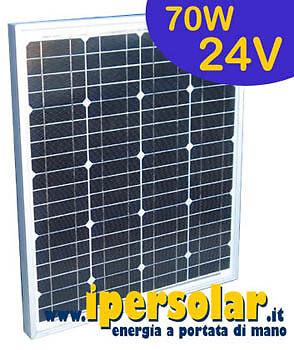 Pannello solare fotovoltaico 70 Watt//24V