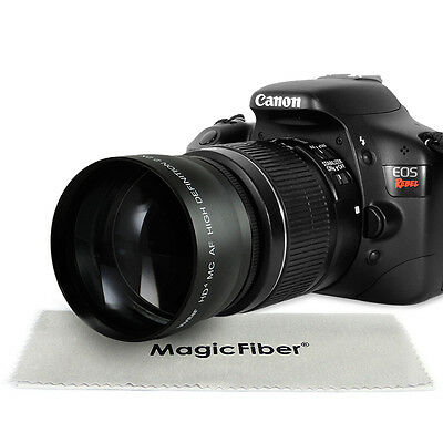 58MM 2.2X Telephoto Zoom Lens for Canon EOS Rebel T6i T6s T5i T3i T2i