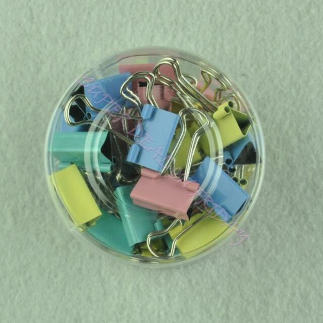 40 Pieces of Colored Binder Clips Home Office School Teacher Paper Metal Clamps