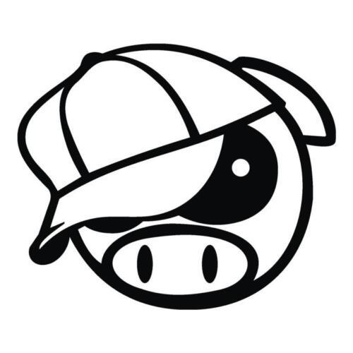 JDM CERDO Gorra de béisbol Coche Decal Jdm Subaru manga Deriva Pegatina Vinilo gracioso