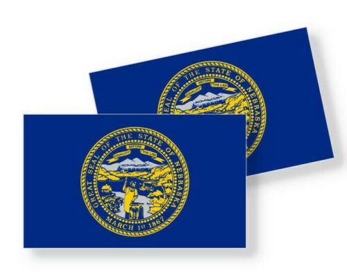 Set of 4 Vinyl Sticker Adhesive Decals Various Sizes Nebraska State Flag