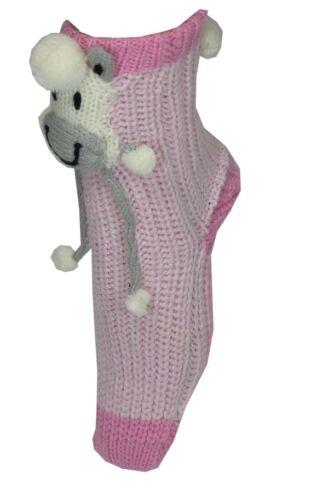 3 pares por £ 1.50 Chicas Grueso Lanudo Estilo Calcetín Con Apliques De Oveja 3D