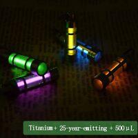 Titanium Gaseous Tritium Light Keychain Fluorescent Autoluminescence 25 Years