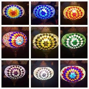 Handgefertigte mosaik decken lampe h nge leuchte versch farben orientalisch ebay for Mosaik lampe orientalisch