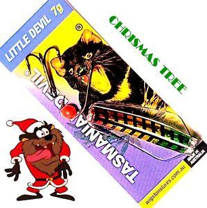 Tasmanian Devil Christmas Tree 7G Fishing Lure w/Bead, Single Hook & Treble Hook