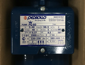 New PEDROLLO PQ60 OIL PUMP 380V