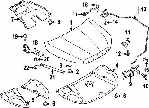 SUBARU OEM 14-15 Forester Hood-Lock Latch 57310SG010