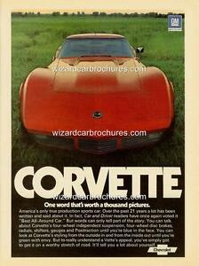 1974 CHEVROLET CORVETTE A3 POSTER AD ADVERT ADVERTISEMENT SALES BROCHURE MINT