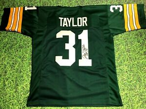 Details about JIM TAYLOR AUTOGRAPHED GREEN BAY PACKERS JERSEY JSA HOF 76