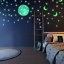 100Pcs//Set 3D Stars Glow In The Dark Luminous Fluorescent Wall Stickers Decor UK
