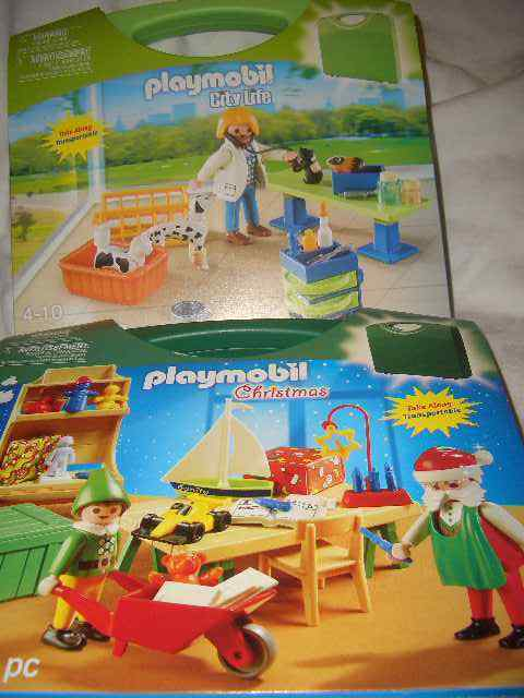 Lot 2 NEW PLAYMOBIL take along 5987 Christmas 5970 City Life; ages 4-10