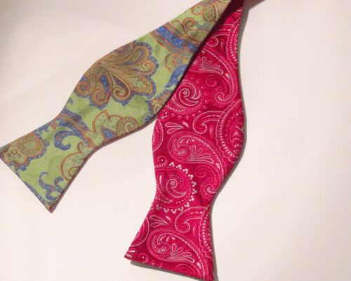 Floral Classic 3 1//2in.-3 3//4. New B/&J Reversible Self Tie Bow Tie 100/% Silk
