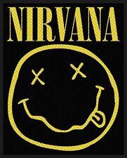 Nirvana - Dead Smiley Aufnäher Patch Kurt Cobain Grunge Alternative Indie NEU