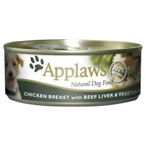 Applaws Chicken Breast With Beef Liver & Vegetables Dog Food 156g