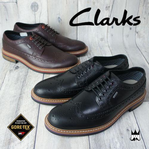 Clarks DARBY LIMIT  GTX nero Gore tex Water Proof Men Dimensione 10 scarpe  159.99  prezzi più bassi