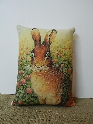 PRIMITIVE~ FOLK ART~ Spring Rabbit Pillow