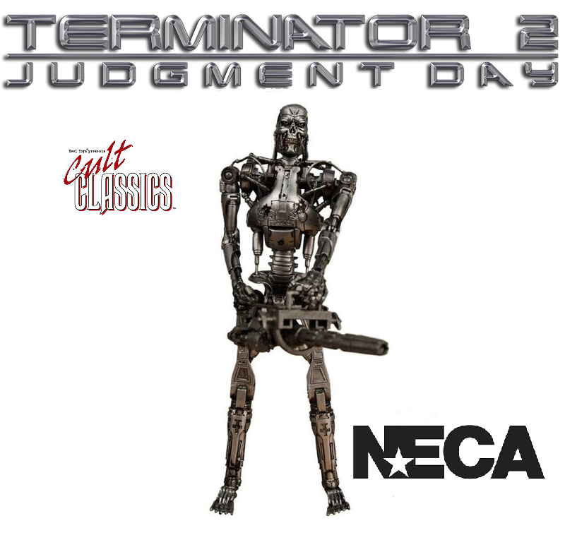 Neca Cult Classics S2 - Terminator 2 - Endoskeleton Battaglia Damaged -