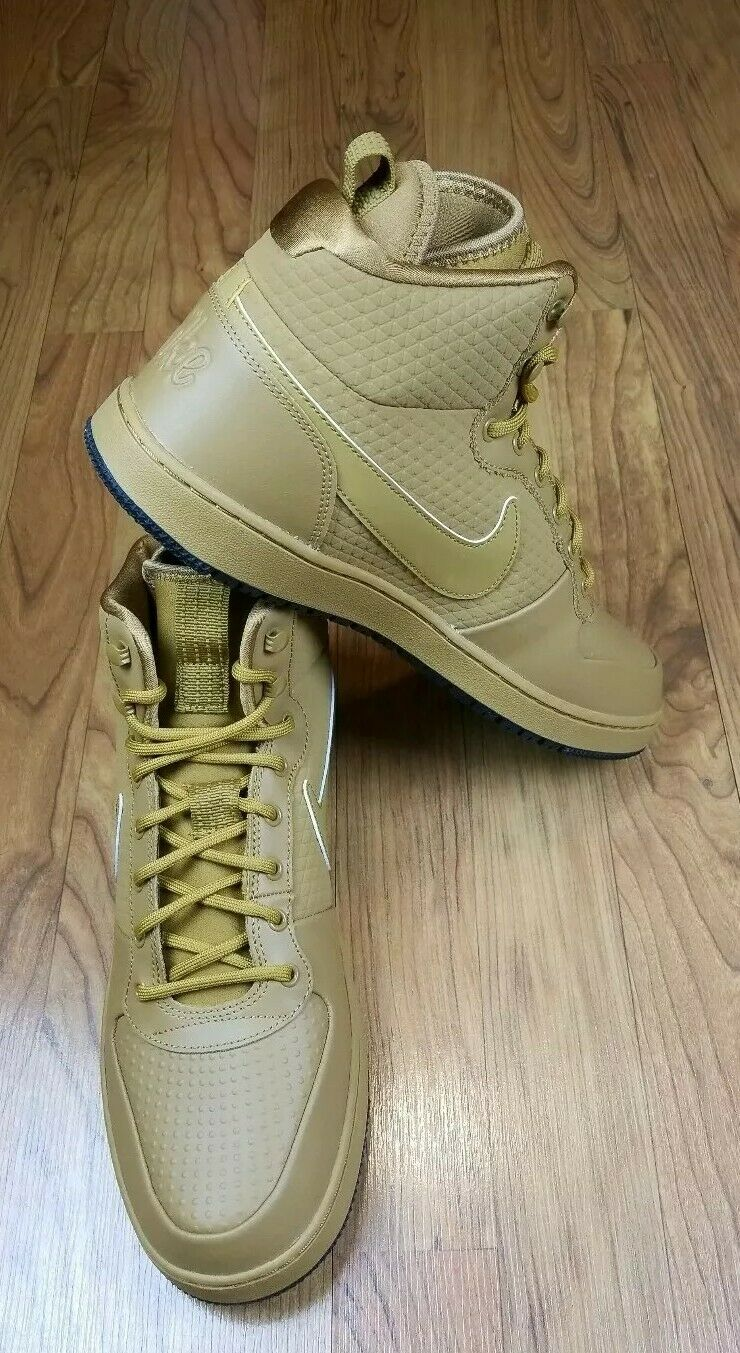 NIKE EBERNON WINTER MID TOP MEN COMFY ATHLETIC AUTHENTIC BASKETBALL SHOE WHEAT