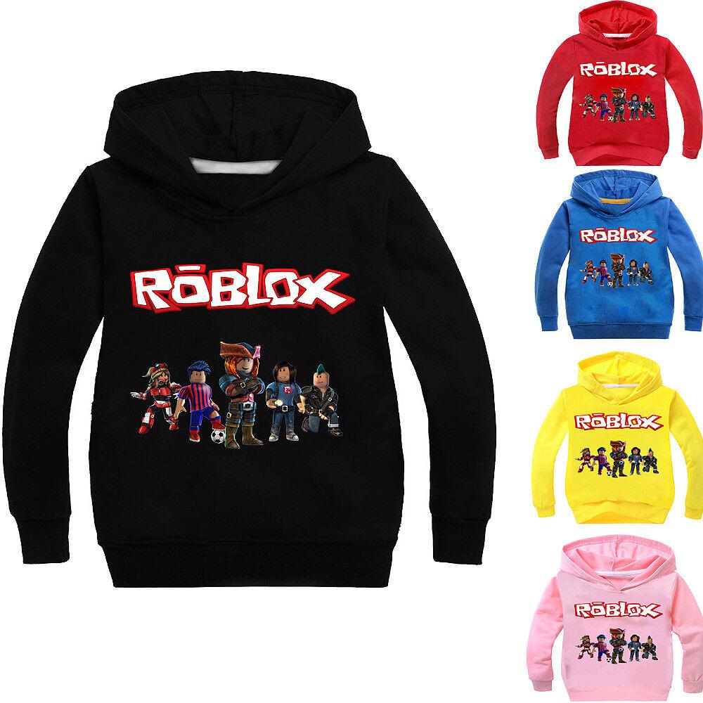 Boys Girls Kids ROBLOX Cartoon Spring Fall Long Hoodies Sweatshirts Pullover