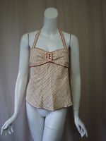 Odille Anthropologie Plaid Halter Top Size 6 Or S