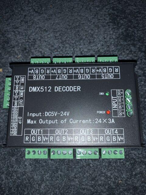 DMX512 DECODER Input: DC5V-24V Max Output current: 24x3A