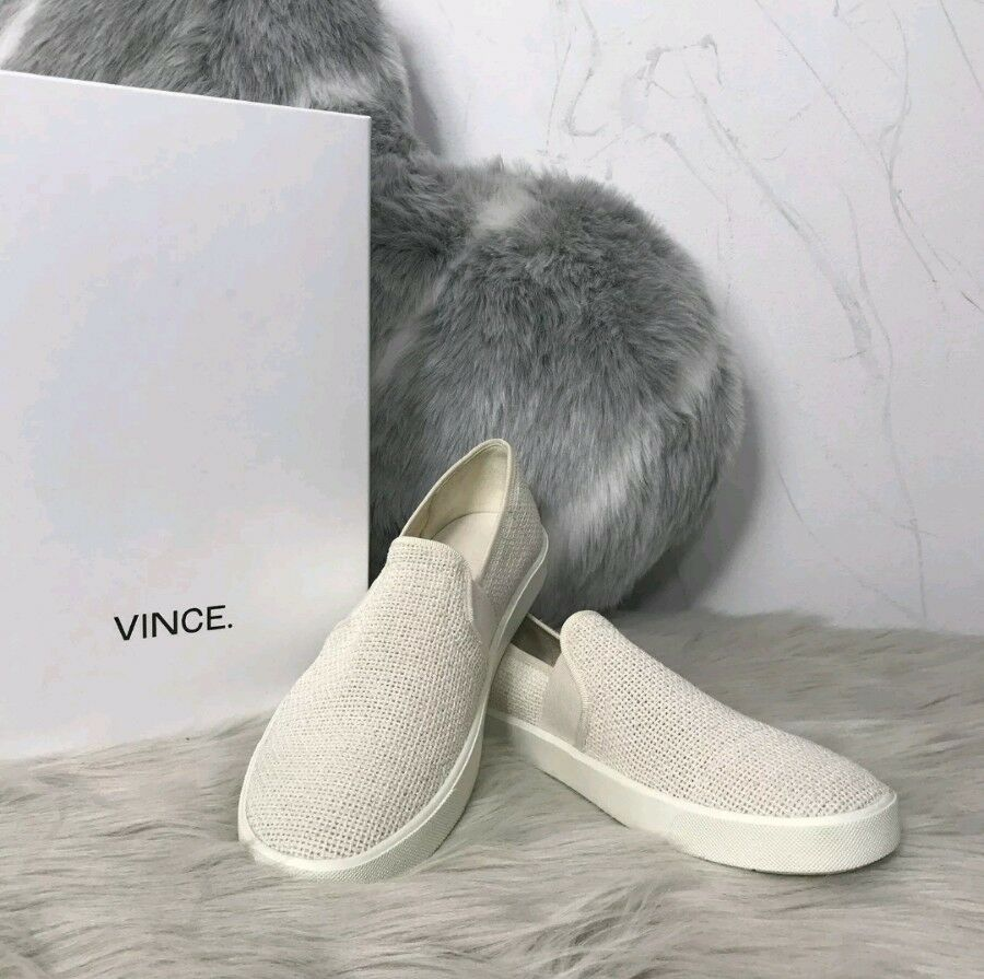 Nuevo Moda Vince Preston Marfil tejido Slip Zapatillas Zapatillas Zapatillas Mocasín Para Mujer Talla 11 B  195  A la venta con descuento del 70%.