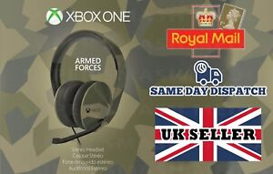 OFFICIAL-XBOX-ONE-STEREO-CHAT-HEADSET-CAMO-CAMOUFLAGE-BULK-PACKAGED-NEW