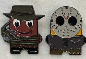 Amazon-Peccy-Freddy-Jason-Halloween-Horror-Collector-Enamel-2-Pin-SET