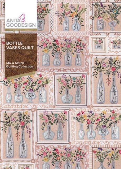 Bottle Vases Quilt         Anita Goodesign        NEW