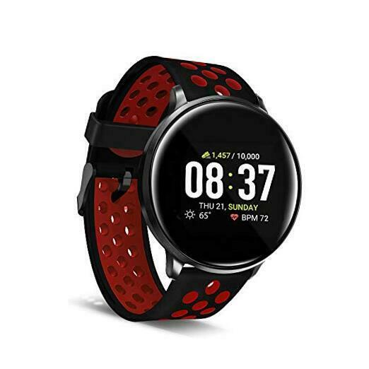 iTouch Sport Smartwatch Fitness Tracker Heart Rate Step Perforated Black/Red fitness heart itouch perforated rate smartwatch sport step tracker
