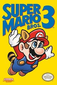 Super-Mario-3-Poster-Nintendo-Video-Games-Icon-Vintage-Original-New-24x36