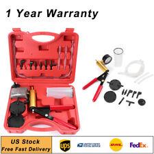 Car Hand Held Vacuum Pressure Pump Tester Tool Brake Bleeder Universal Us Kit