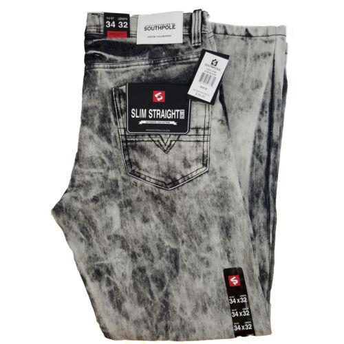Size 29-42 Available SOUTHPOLE MEN/'S JEANS SLIM FIT 15321-3102 ACID BLACK